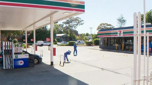 """A man has been stabbed in a """"random"""" attack at a 7-11 this morning."""