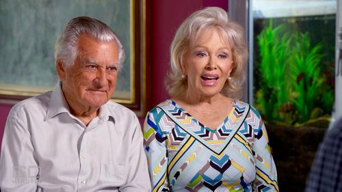 Hawke and his wife on 60 Minutes last year. (60 Minutes)