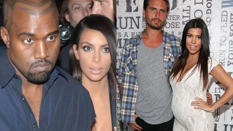 Kanye and Kim Kardashian West / Scott Disick Kourtney Kardashian