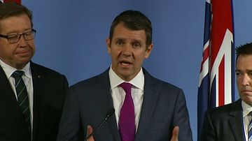 Mike Baird announces the plan today. (9NEWS)