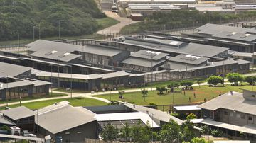 The Christmas Island detention centre.