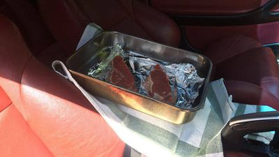 "<p>One man in South Australia decided to see if he could cook a steak by simply placing it inside his 2005 Holden Monaro and documented the project on image sharing site <a href=""http://imgur.com/a/DGGXm#1feURpW"">Imgur</a>. </p><p>""10.30am - Steaks had been here for 30 minutes but don't actually seem to be cooking. If they are, it's going to take a long time. Moved to dash(board),"" he wrote in his first update. (Imgur)</p>"