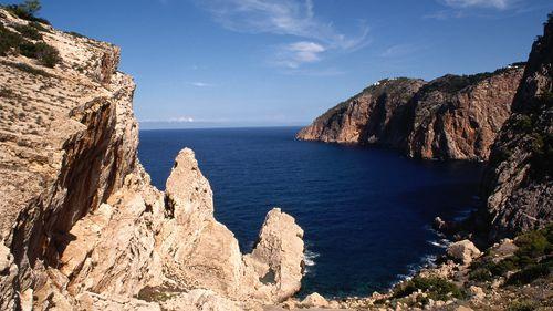 The freedivers were swimming off the Spanish coast in Portitxol Bay.