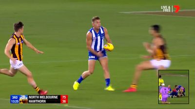 Concussed North Melbourne Kangaroos ace Shaun Higgins recovering well after nasty concussion