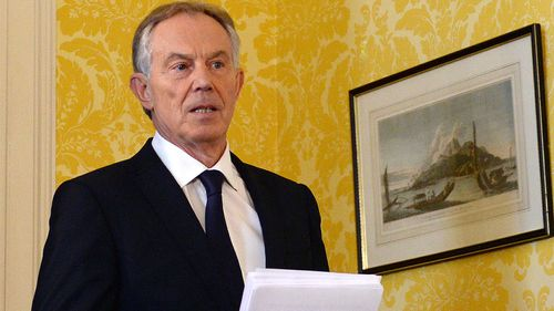 Tony Blair responded to the report yesterday. (AAP)