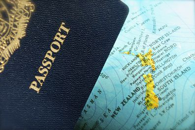 A New Zealand Passport in focus