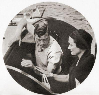 King Edward VIII and Wallis Simpson on a shore excursion during their Mediterranean cruise of 1936.