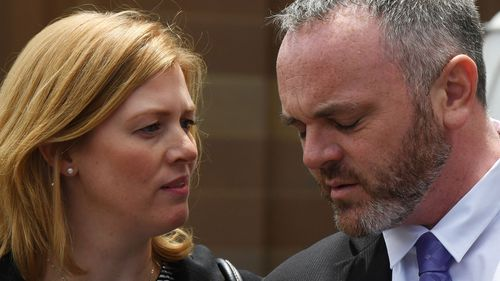 Leighee and Philip Eastbury outside the Supreme Court in Sydney. (AAP)