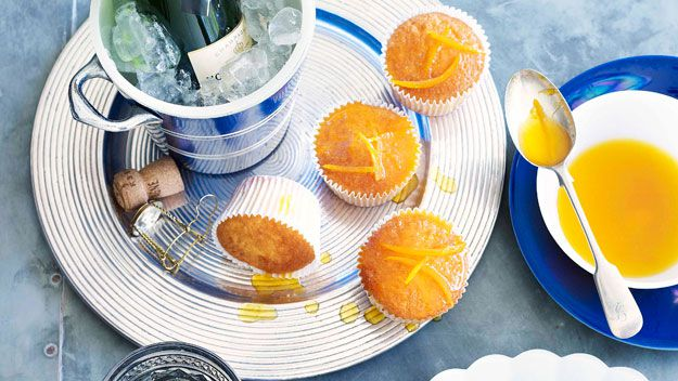 Orange cupcakes with burnt-orange drizzle