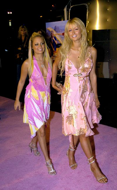 Paris Hilton and Nicole Richie at the Simple Life 2 ' Welcome Home Party' in 2005