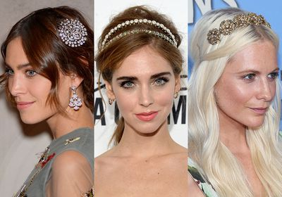 This holiday season it won't just be the tree you'll be decorating. With an abundance of romantic crowns, bejewelled pins and chic elastics, you'll want to trade in your bobby pins for something a little more elaborate. Click through to see the hair accessories that prove party dressing is best tackled head to toe.