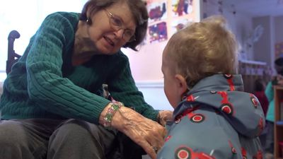 A new film, Present Perfect, chronicles the interactions between the senior residents and the young pre-schoolers.