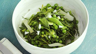 "Recipe: <a href=""http://kitchen.nine.com.au/2018/01/24/15/20/broadbean-salad"" target=""_top"" draggable=""false"">Broadbean salad</a>"