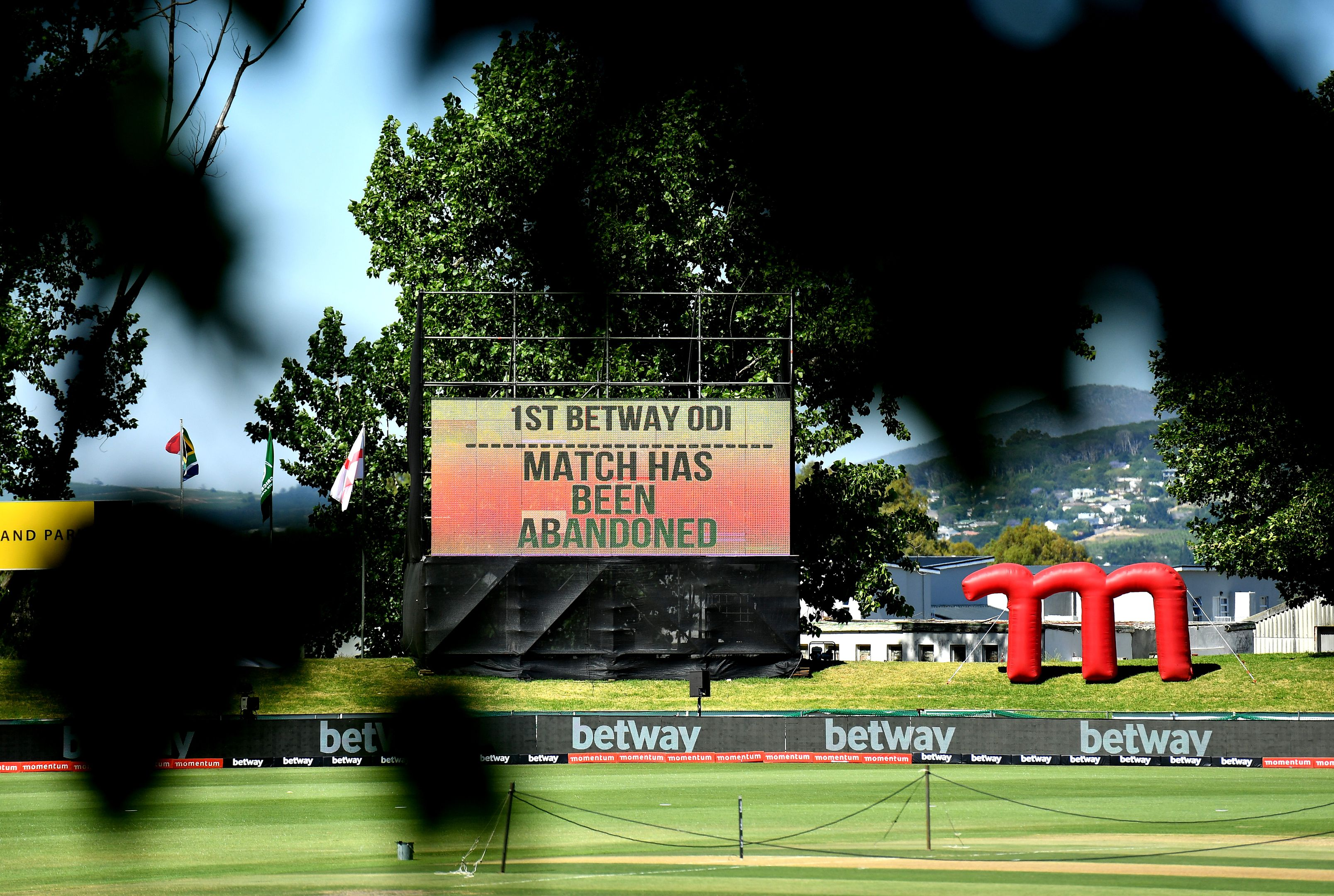 The South Africa v England ODI has been abandoned.