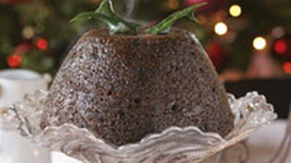 Sago plum pudding