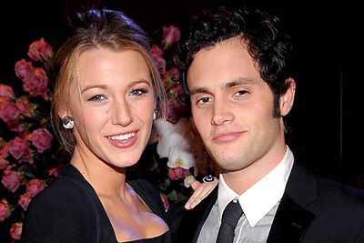 <B>Where they met:</B> <I>Gossip Girl</I>. He plays Dan Humphrey, the poetry-writing son of a rock star; she plays Serena van der Woodsen, the beautiful and wealthy It girl.<br/><br/><B>Did love blossom or bomb?</B> Bombed. The couple dated for several years before they called it quits in 2010. Like most co-star couples they had to continue working together (their onscreen counterparts also broke up around the same time), which sounds horrendously awkward.