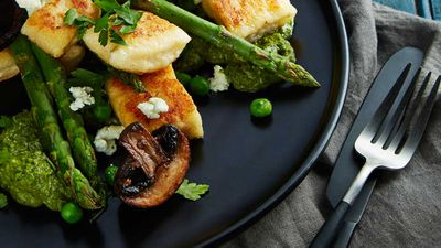 "Recipe: <a href=""http://kitchen.nine.com.au/2017/10/23/16/11/crispy-ricotta-gnocchi-with-salsa-verde"" target=""_top"">Crispy ricotta gnocchi with salsa verde</a>"