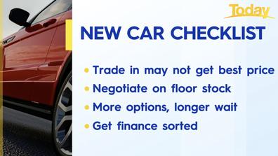 Effie Zahos' checklist for buying a car.