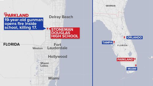 Parkland is located between Miami and Orlando. (9NEWS)