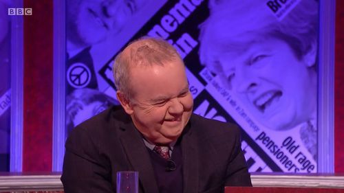 """Panelist Ian Hislop suggested sexual harassment was """"not high-level crime"""". (BBC)"""