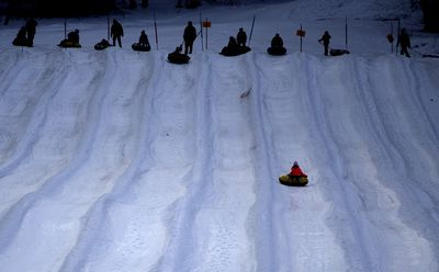 January 27 - A girl enjoys the snow tubing lanes at Campgaw Mountain Ski Area, in New Jersey. (AAP)