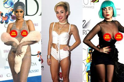 RiRi's interesting choice of dress at this year's Council of Fashion Designers of America red carpet was a shocker, but it's nothing we haven't seen before. <br/><br/>Let's take a look through 15 of the most revealing red carpet outfits of all time...