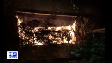 A house has been destroyed by a fire at Elizabeth Downs in Adelaide overnight.