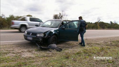 The car forced Michael Hansen and his sister off the road.