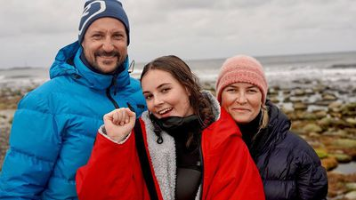 Crown Prince Haakon celebrates proud dad moment with sweet family photo