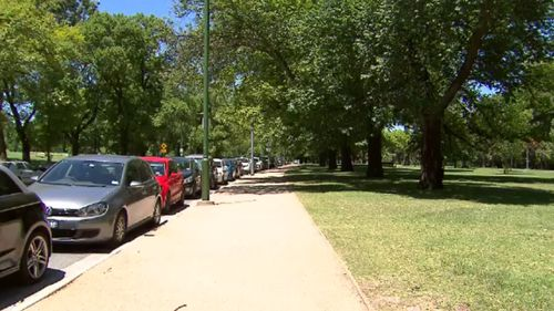 The alleged attack unfolded near the Royal Botanic Gardens. (9NEWS)