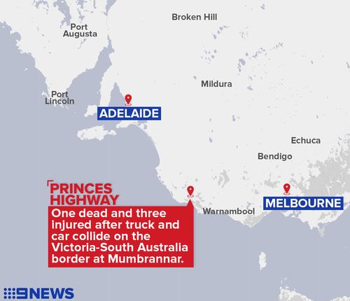 The crash occurred near the Victorian-South Australian border.