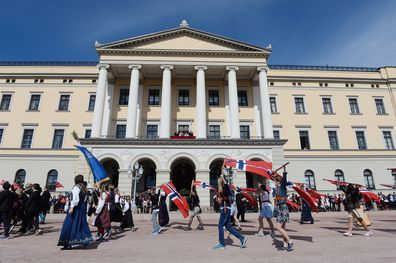 Norwegian National Day at the Royal Palace on May 17, 2016 in Oslo, Norway.