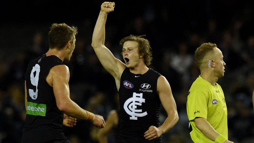 Fast-finishing Blues stun Power in AFL