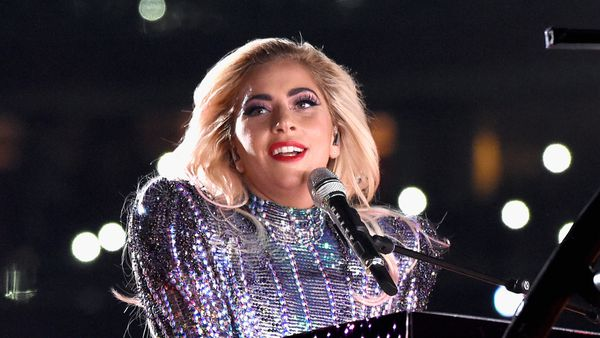 All the glitter, all the glam. Yes, it's Lady Gaga. Image: Getty.