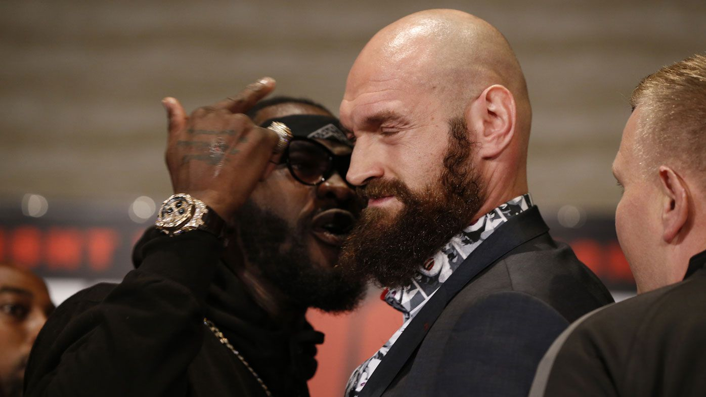 Fury, Wilder press conference descends into chaos