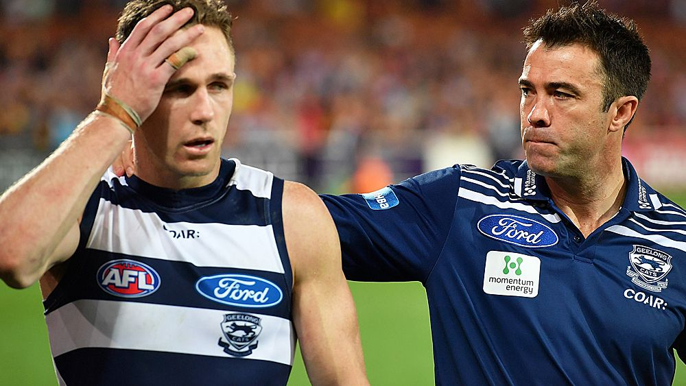 AFL Finals: Geelong Cats coach Chris Scott laments injury toll after loss to Adelaide Crows