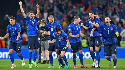 Italy celebrate their Euros triumph