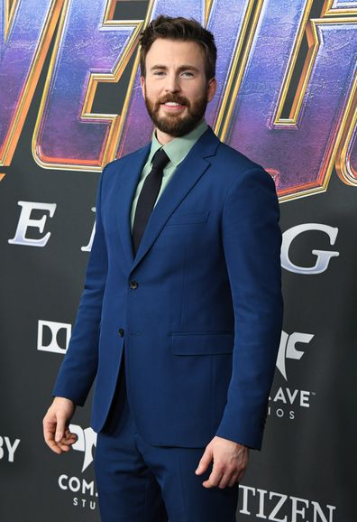 Chris Evans, movie premiere, Avengers: Endgame, red carpet