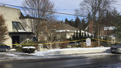 The house where the couple were found dead in Toronto. Now the family court case has taken a new twist.