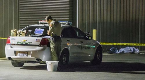 The shooting rampage started at a trucking company in Bakersfield yesterday.