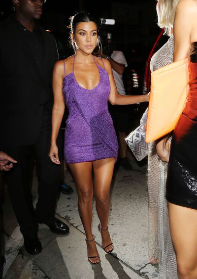 Kourtney Kardashian in La Perla at the 21st birthday celebrations of Kylie Jenner