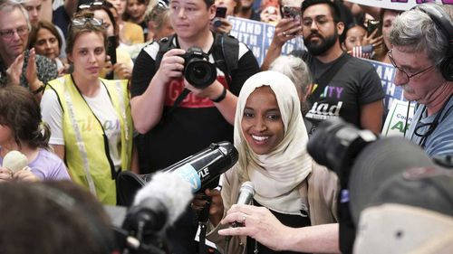 Ilhan Omar arrived in the US as a refugee from Somalia when she was 10. She was elected to Congress last year.