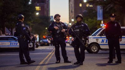 Saipov mounted the kerb and drove through 20 blocks worth of bicycle lanes near the World Trade Centre site about 3pm  local time. (AP)