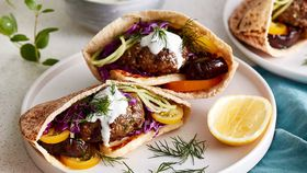 Spiced lamb pita pockets