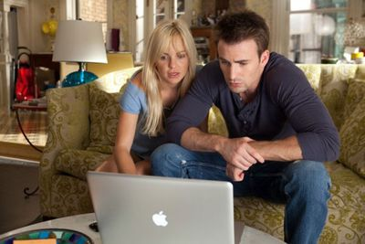 Now this is just ridiculous. The whole film's premise comes from a <i>Marie Claire</i> article about counting how many lovers you've had. As our heroine Ally (Anna Faris) revisits her past boyfriends, she gets help with 'research' from Colin (Chris Evans) ... on a Macbook!!