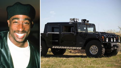 Tupac Shakur had all the trappings of a music star including an SUV.