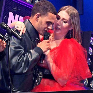 Slowthai apologised for his behaviour towards NME Awards host Katherine Ryan.