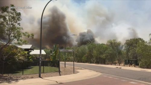 Residents have been told to leave and avoid coming home as the fire burns.