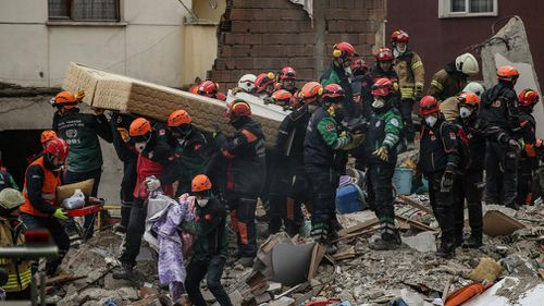 Emergency teams are working around the clock in search of any more survivors trapped in the rubble of an eight-story apartment building in Istanbul.