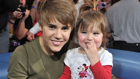 Justin Bieber with his little sister Jazmyn
